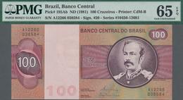 Brazil / Brasilien: Banco Central Do Brasil 100 Cruzeiros ND(1981), P.195Ab, PMG 65 Gem Uncirculated - Brazil