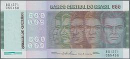 Brazil / Brasilien: Pair With 500 Cruzeiros 1972 P.196Aa (XF) And 50.000 Cruzeiros Reais ND(1993) P. - Brazil