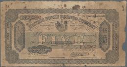 British North Borneo: The British North Borneo Company 5 Dollars 1922, P.4b, Extraordinary Rarity In - Banknoten