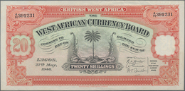 British West Africa: The West African Currency Board 20 Shillings 1948, P.8b, Excellent Condition An - Banknoten