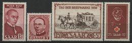 SARRE Cote 187 € N° 268 à 271. Neufs ** (MNH). TB - 1947-56 Allierte Besetzung