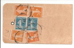 1922 Semeuse 2x25c + 4x5c Une Piquage à Cheval.Nice Fleurs Vers Allemagne - Poststempel (Briefe)