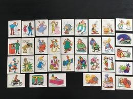 LOT 34 Autocollants Vache Qui Rit 1974-1976 - TINTIN - ASTERIX - ROBIN DES BOIS - PINOCCHIO - BELLE ET LE CLOCHARD - Stickers