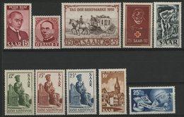 SARRE Cote 283 € N° 268 à 277. Ensemble Complet De 10 Valeurs Neuves ** (MNH). TB - 1947-56 Allierte Besetzung