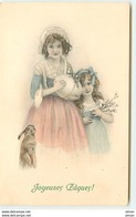 N°11931 - MM Vienne N°350 - Joyeuses Pâques - Fillettes Portant Un Oeuf - Pâques
