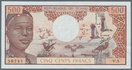 Chad / Tschad: 500 Francs ND(1974) P. 2, Crisp Original Apper, Original Colors, Light Handling In Pa - Tschad