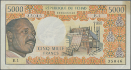 Chad / Tschad: Republique Du Tchad 5000 Francs ND(1974), P.4, Nice And Rare Note, Some Minor Stains - Tschad