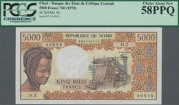 Chad / Tschad: Banque Des États De L'Afrique Centrale - République Du Tchad 5000 Francs ND(1978), P. - Tschad