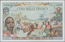 Chad / Tschad: Republique Du Tchad 5000 Francs 1980, P.8, Very Popular And Rare Note In Excellent Co - Tschad