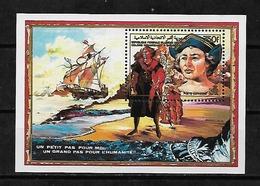 #39# COMORES MICHEL BL 261A MNH**. SHIP, COLUMBUS. - Comoros