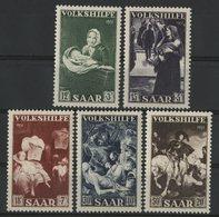 SARRE Cote 75 € N° 296 à 300. Série Complète De 5 Valeurs Neuves ** (MNH). TB - 1947-56 Allierte Besetzung
