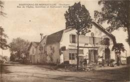 ROUFFIGNAC-DE-MONBAZILLAC -Rue De L'Eglise, Carrefour Et Restaurant Morboeuf - France