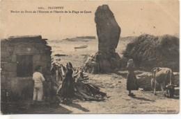 29 PLOZEVET  Menhir Du Droit De L'Homme Et L'Entrée De La Plage  De Conté - Plozevet