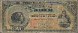Colombia / Kolumbien: Banco Nacional De La República De Colombia 25 Pesos 1895, P.237, Almost Well W - Colombie