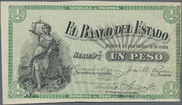 Colombia / Kolumbien: Banco Del Estado 1 Peso 1900 Uniface Front Proof, P.S504p, Unfolded With Sever - Colombie