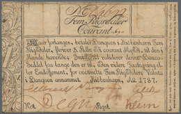 Denmark  / Dänemark: Banquen I Kiöbenhavn 5 Rigsdaler 1787, P.A29, Restored And Backed With Cardboar - Dänemark