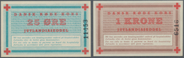 Denmark  / Dänemark: Jutland Notgeld Set With 3 Pcs. 25 Oere, 1 And 5 Kroner ND, P.NL In UNC Conditi - Dänemark