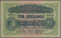 East Africa / Ost-Afrika: The East African Currency Board Set With 3 Banknotes 10 Shillings 1939 P.2 - Banknoten