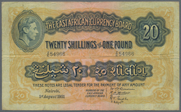 East Africa / Ost-Afrika: The East African Currency Board 20 Shillings 1951 King George VI Issue, P. - Banknoten