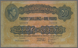 East Africa / Ost-Afrika: The East African Currency Board 20 Shillings 1952, P.30b, Still Nice And R - Banknoten