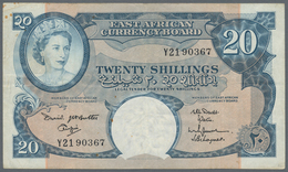 East Africa / Ost-Afrika: The East African Currency Board 5 Shillings 1953 Elizabeth II At Right P.3 - Banknoten