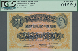 East Africa / Ost-Afrika: The East African Currency Board 20 Shillings 1955, P.35a, Perfect Uncircul - Banknoten