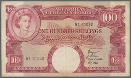 East Africa / Ost-Afrika: East African Currency Board 100 Shillings ND(1958-60), Queen Elizabeth II - Banknoten