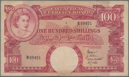 East Africa / Ost-Afrika: The East African Currency Board 100 Shillings ND(1958), P.40, Rare Banknot - Banknoten