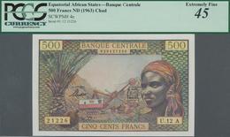 Equatorial African States: Banque Centrale - États De L'Afrique Équatoriale 500 Francs ND(1963) With - Banknoten