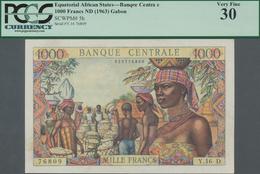 Equatorial African States: Banque Centrale - États De L'Afrique Équatoriale 1000 Francs ND(1963) Wit - Banknoten