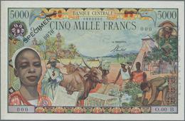 Equatorial African States: Banque Centrale - États De L'Afrique Équatoriale 5000 Francs ND(1963) SPE - Banknoten