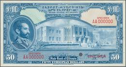 Ethiopia / Äthiopien: 50 Dollars ND(1945) With Signature: Rozell, Color Trial Specimen Intaglio Prin - Aethiopien
