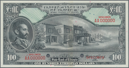 Ethiopia / Äthiopien: The State Bank Of Ethiopia 100 Dollars ND(1945) SPECIMEN With Signature Rozell - Aethiopien