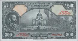 Ethiopia / Äthiopien: The State Bank Of Ethiopia 500 Dollars ND(1945) SPECIMEN With Signature Rozell - Aethiopien
