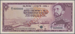 Ethiopia / Äthiopien: Bank Of Ethiopia 10 Dollars ND(1961) Color Trial SPECIMEN In Lilac Instead Of - Aethiopien
