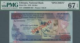 Ethiopia / Äthiopien: National Bank Of Ethiopia 50 Birr 1976 TDLR SPECIMEN, P.33s With Specimen Numb - Aethiopien