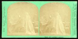 """Stereoview - """"WHAT IS'T? A SPIRIT?"""" - SHAKESPEARE - Visionneuses Stéréoscopiques"""