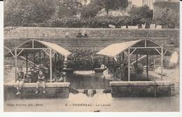 Podensac (Gironde) Le Lavoir , Lavandières , Enfants , Animée - France