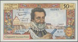 France / Frankreich: 50 Nouvaux Francs 1959 P. 143, Light Folds In Paper, No Holes Or Tears, Paper S - Francia