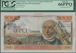 French Guiana / Französisch-Guayana: Caisse Centrale De La France D'Outre-Mer 5000 Francs ND(1947-49 - Guyana Francese