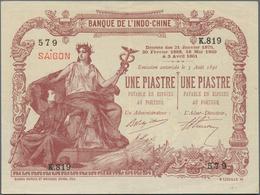 French Indochina / Französisch Indochina: Banque De L'Indo-Chine – Saïgon 1 Piastre D. 21.01.1875 & - Indochina
