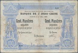 French Indochina / Französisch Indochina: Banque De L'Indo-Chine – Saïgon 100 Piastres 1907, P.33, E - Indochina