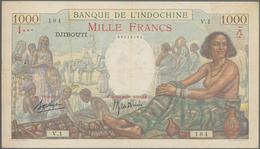French Somaliland / Französisch Somaliland: Banque De L'Indochine - Djibouti 1000 Francs ND(1938), P - Banknoten