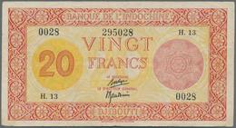 French Somaliland / Französisch Somaliland: Banque De L'Indochine – Djibouti/French Somaliland 20 Fr - Banknoten