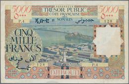 French Somaliland / Französisch Somaliland: Trésor Public - Côte Française Des Somalis 5000 Francs N - Banknoten