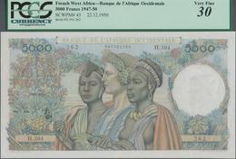 French West Africa / Französisch Westafrika: Banque De L'Afrique Occidentale 5000 Francs 1950, P.43, - West African States