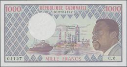 Gabon / Gabun: Banque Des États De L'Afrique Centrale - République Gabonaise 1000 Francs ND(1970's), - Gabon