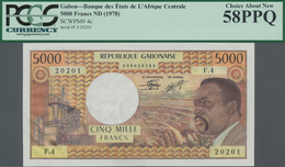 Gabon / Gabun: Banque Des États De L'Afrique Centrale - République Gabonaise 5000 Francs ND(1978), P - Gabon