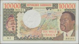 Gabon / Gabun: Banque Des États De L'Afrique Centrale - République Gabonaise 10.000 Francs ND(1974), - Gabon