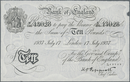 Great Britain / Großbritannien: 10 Pounds 1937 BERNHARD Forgery, Signature: Peppiatt, P.336x In AUNC - [ 1] Grossbritannien